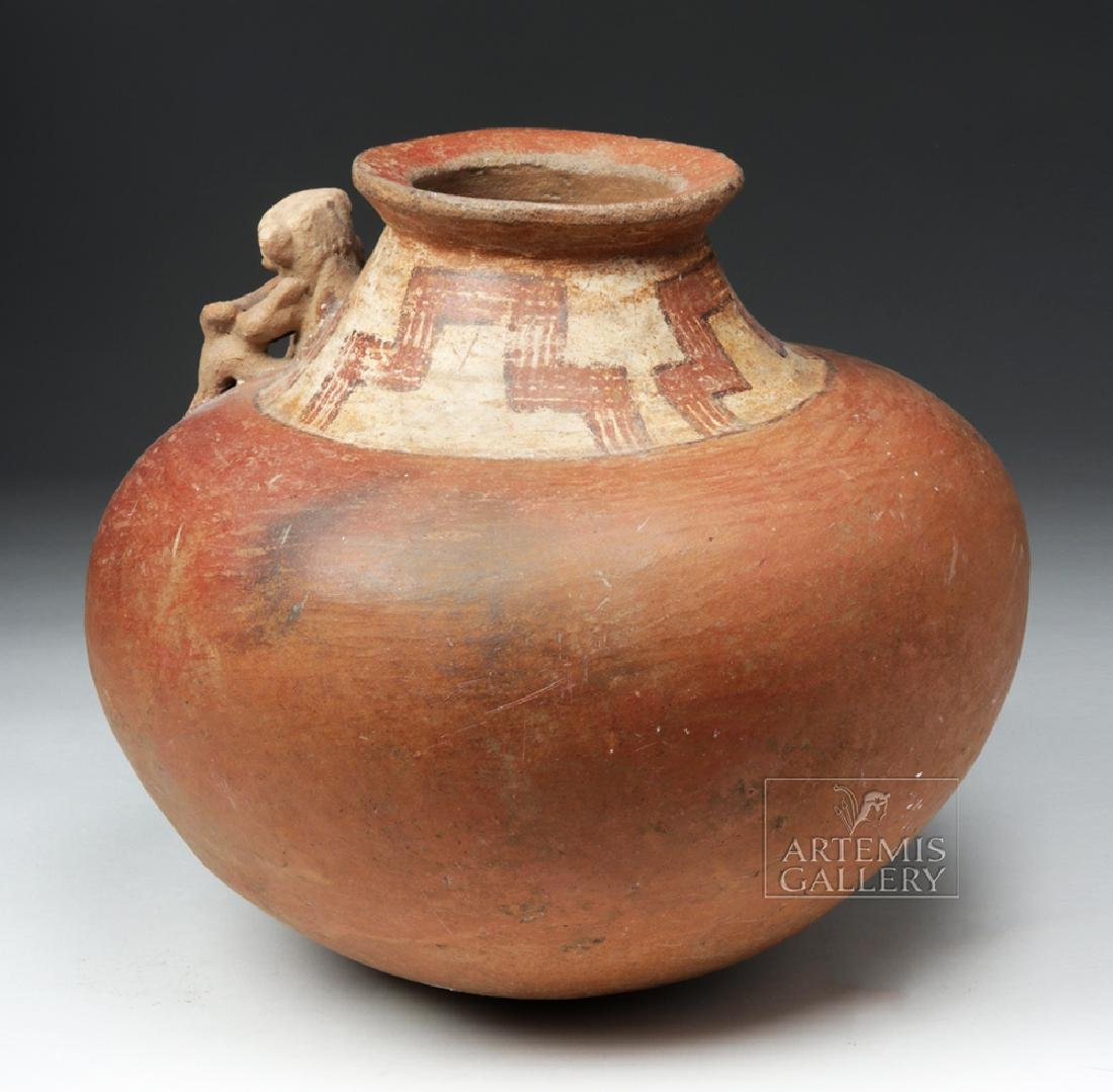 Large Costa Rican Pottery Effigy Vessel - 3