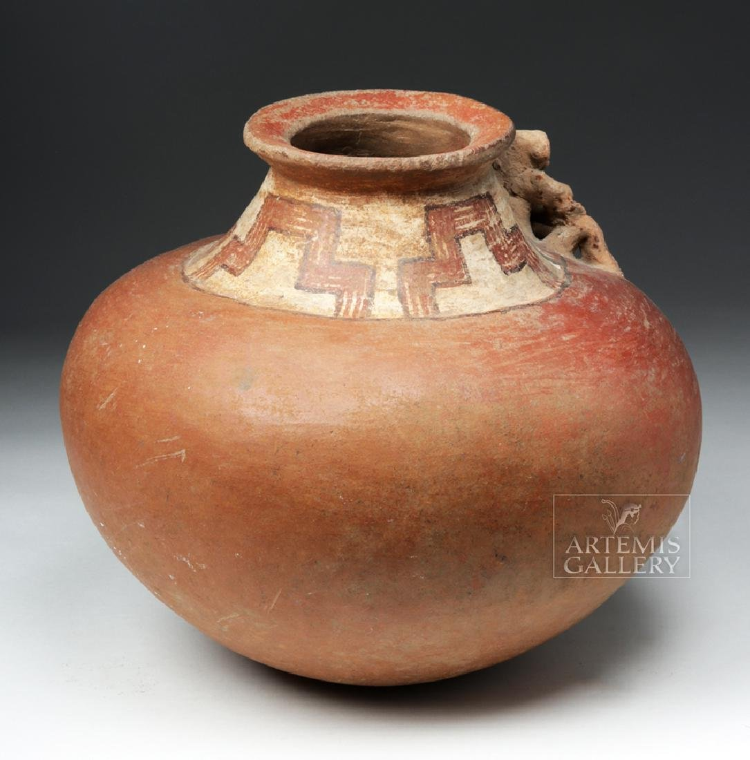 Large Costa Rican Pottery Effigy Vessel - 4