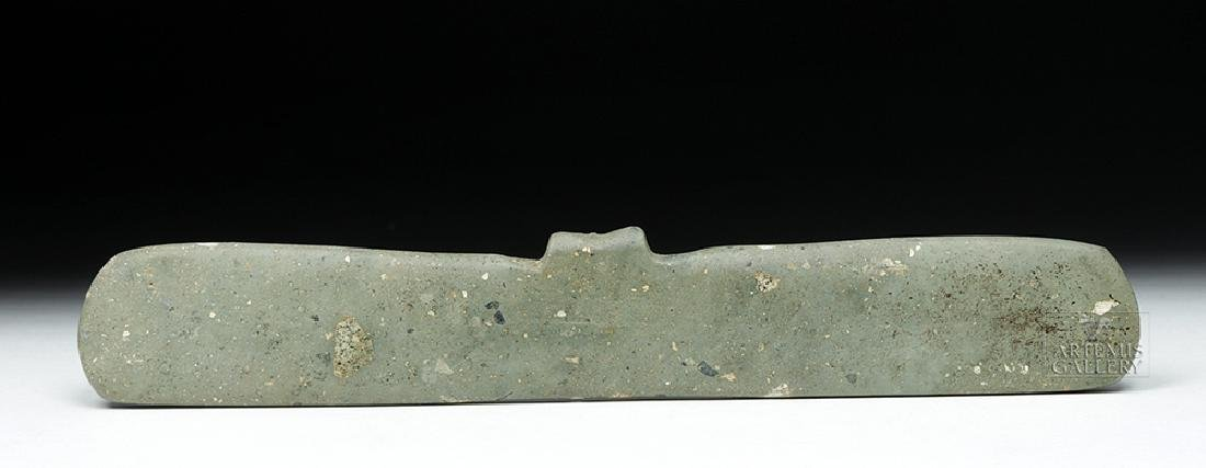Large Tairona Greenstone Bat Wing Pendant