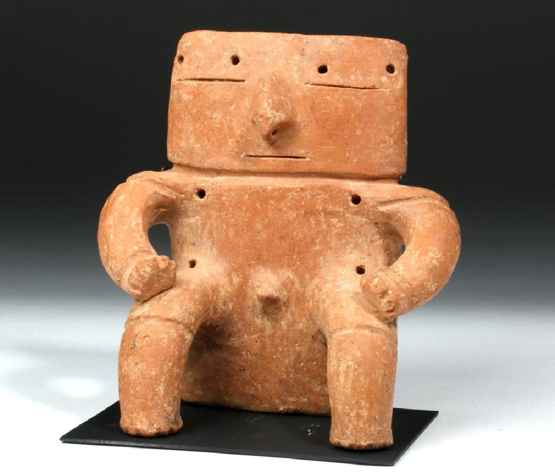 Quimbaya Seated Solid-Slab Anthropomorphic Figure - 5