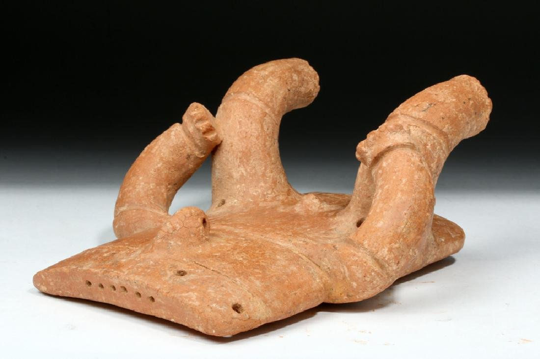 Quimbaya Seated Solid-Slab Anthropomorphic Figure - 7