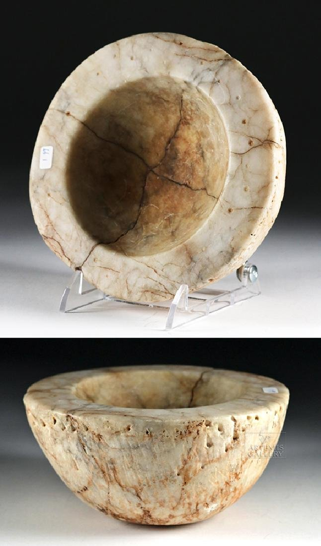 Native American White Stone Bowl / Mortar