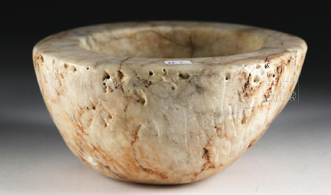 Native American White Stone Bowl / Mortar - 2