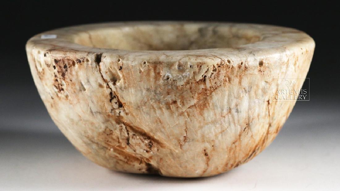 Native American White Stone Bowl / Mortar - 3