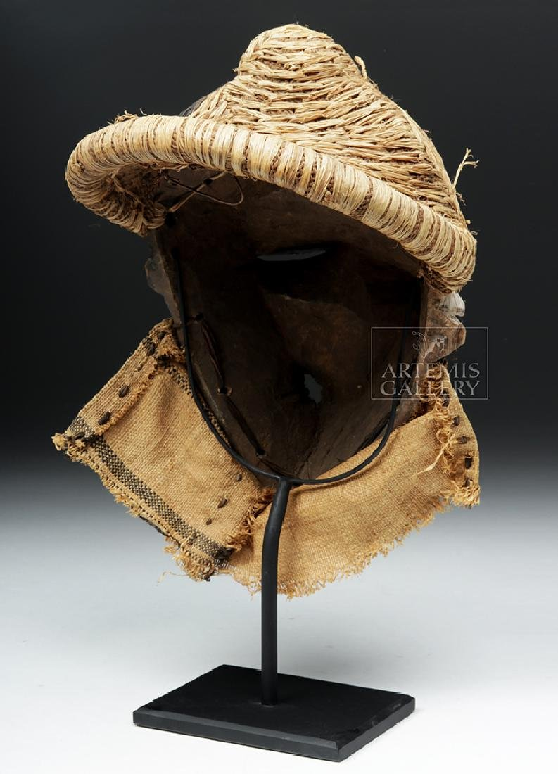 Rare African Pende Mbangu Wooden Mask - 5