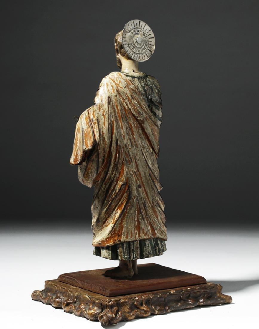 Early 19th C. Mexican Wood Santo - Saint Paul - 2