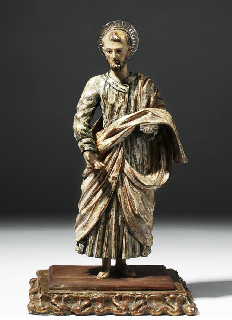 Early 19th C. Mexican Wood Santo - Saint Paul - 5