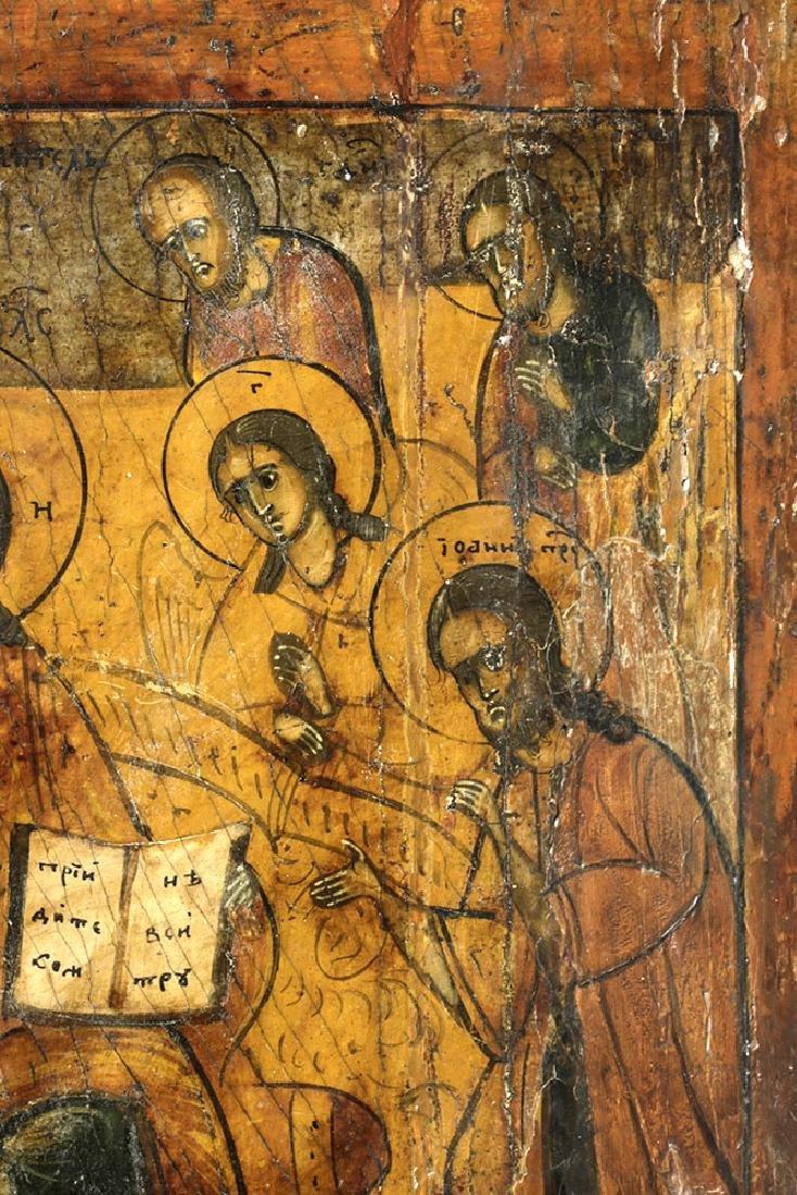 Early 18th C. Greek Icon - Christ Pantokrator - 3