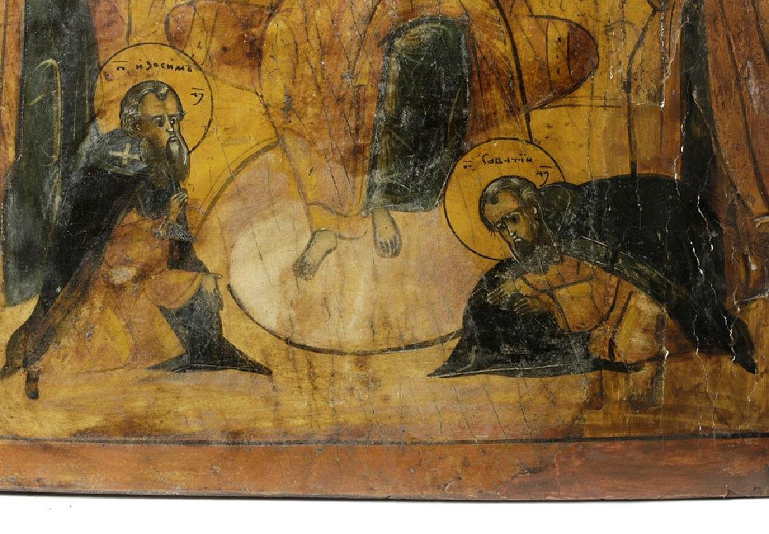 Early 18th C. Greek Icon - Christ Pantokrator - 5