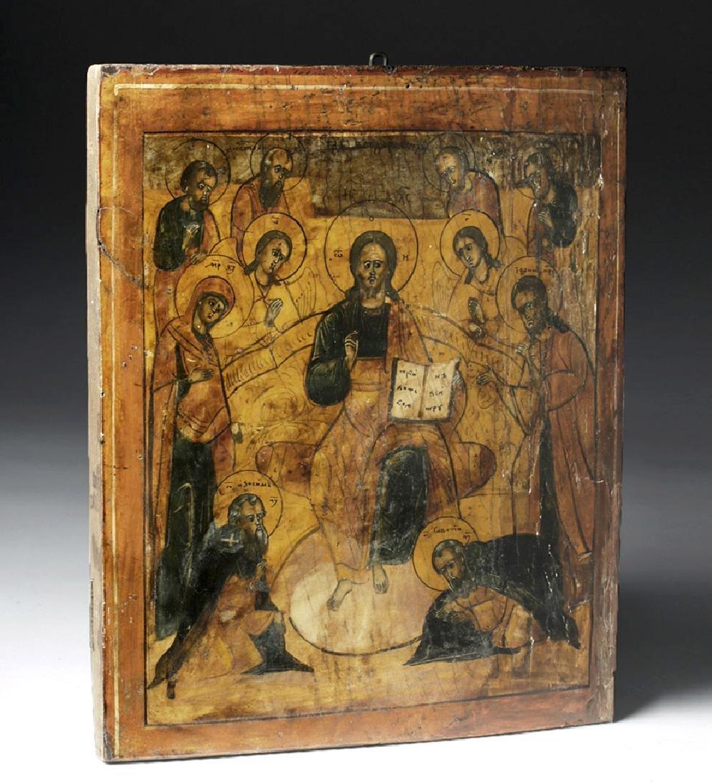 Early 18th C. Greek Icon - Christ Pantokrator - 6