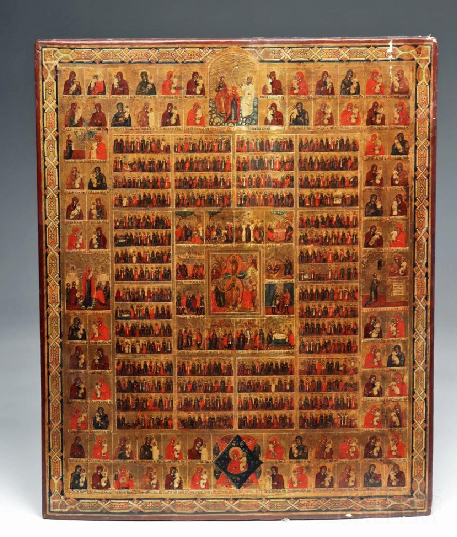 Early 19th C. Russian Minyeia / Calendar Icon