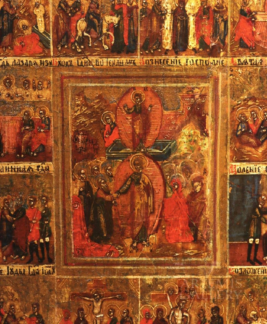 Early 19th C. Russian Minyeia / Calendar Icon - 2