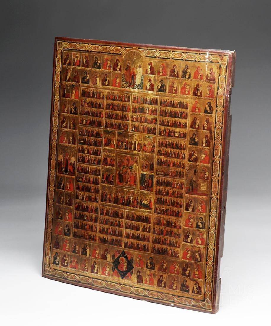Early 19th C. Russian Minyeia / Calendar Icon - 4