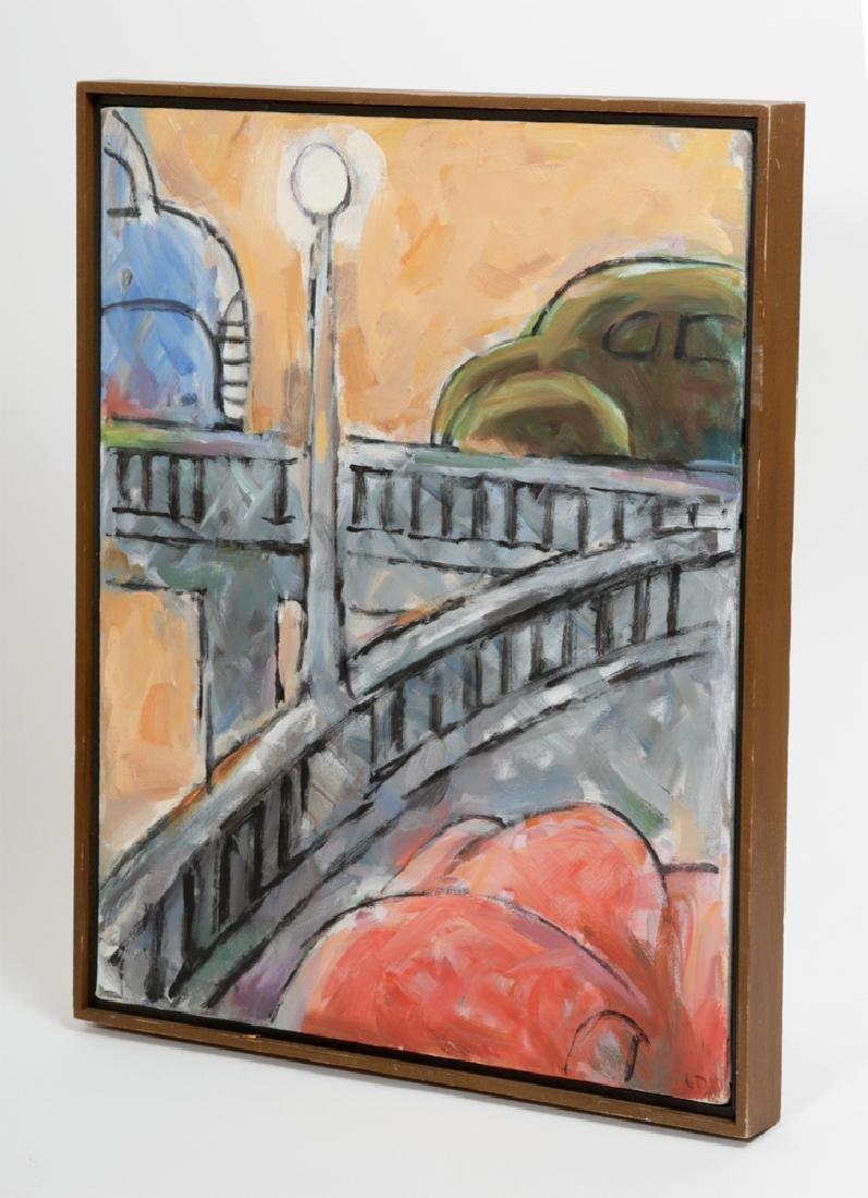 "L. Dennis Painting - ""Merging Traffic"" - 1990 - 5"