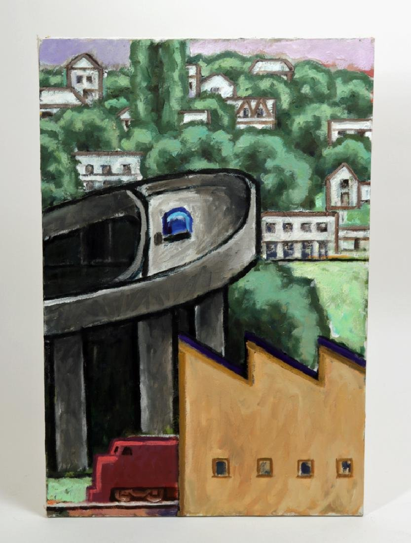 "L. Dennis Painting - ""Ramp (Emerson)"" 2008"