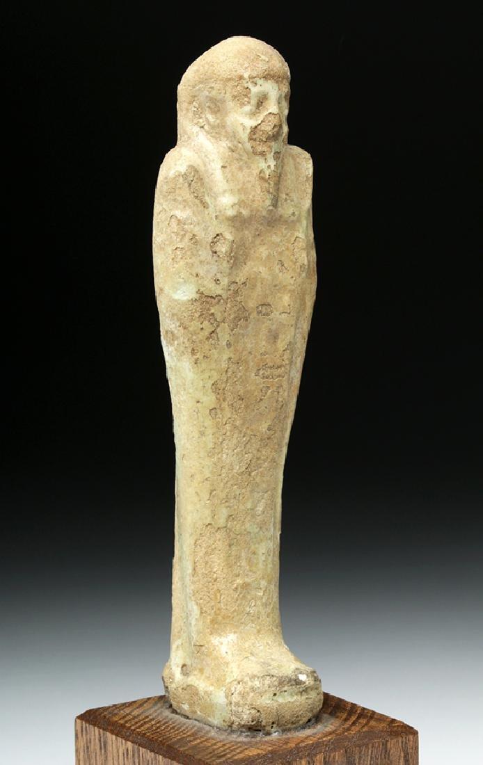 Egyptian Late Period Glazed Faience Ushabti