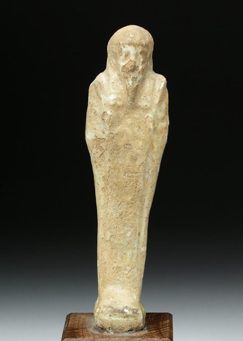 Egyptian Late Period Glazed Faience Ushabti - 2