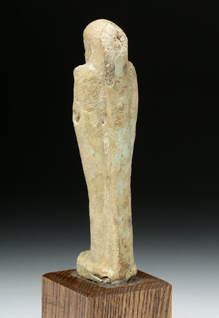 Egyptian Late Period Glazed Faience Ushabti - 3
