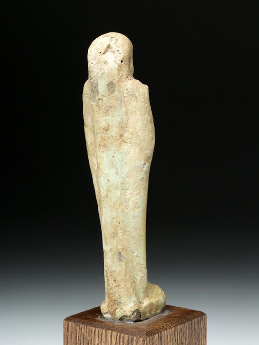 Egyptian Late Period Glazed Faience Ushabti - 4
