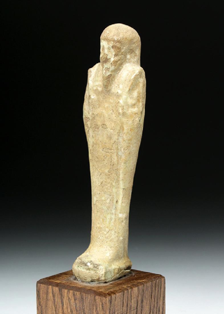 Egyptian Late Period Glazed Faience Ushabti - 5