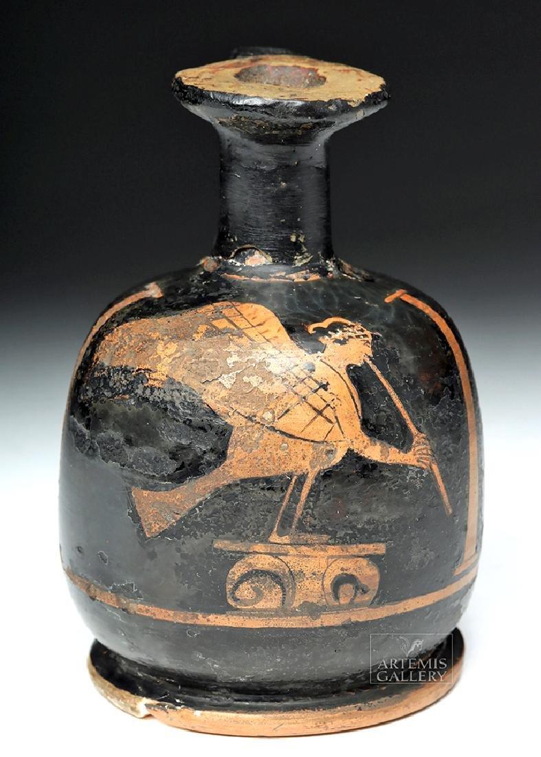 Greek Attic Red-Figure Squat Lekythos - Musical Siren