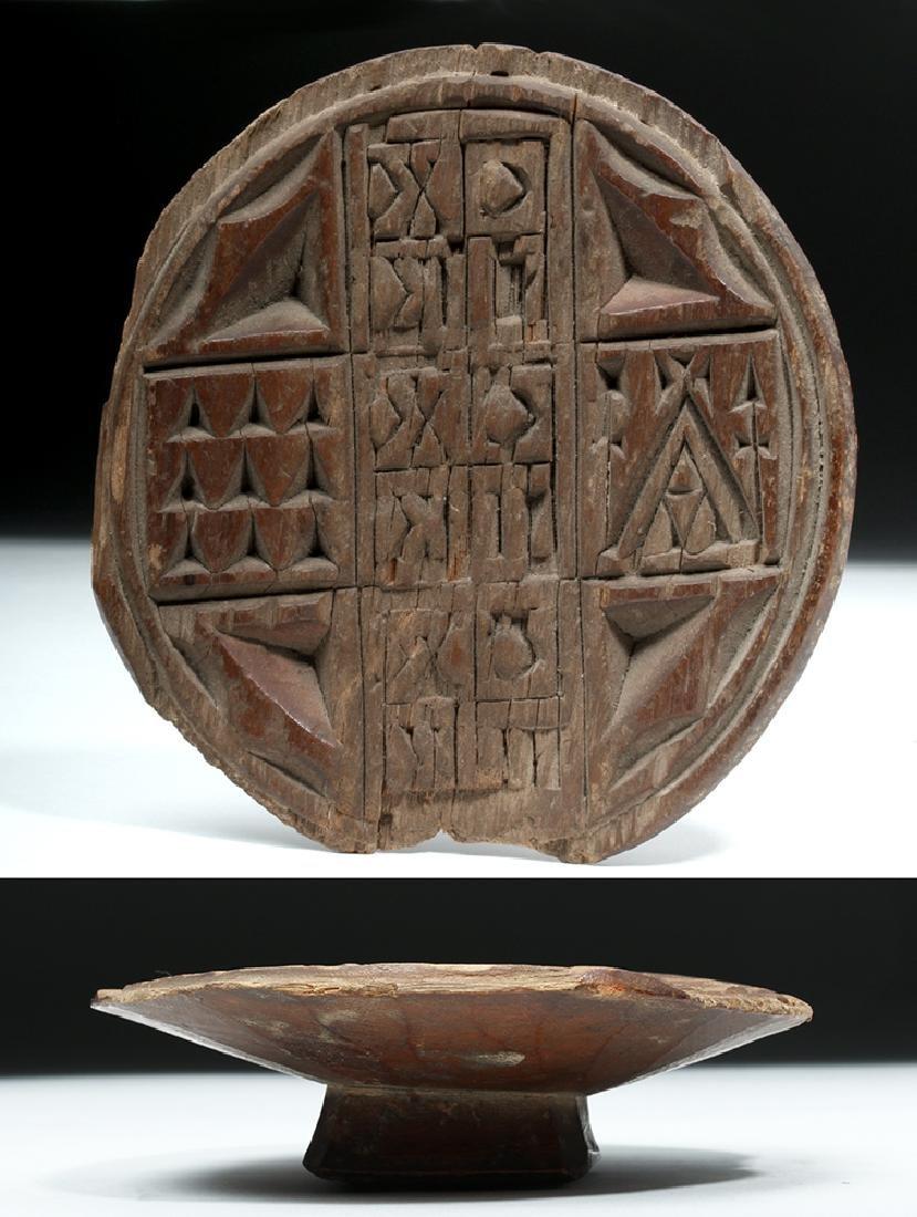 19th C. Greek Orthodox Wood Bread Stamp