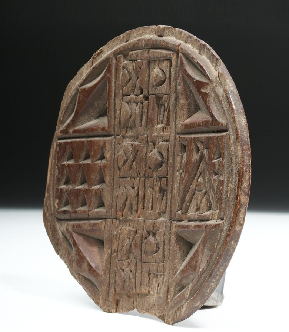19th C. Greek Orthodox Wood Bread Stamp - 2