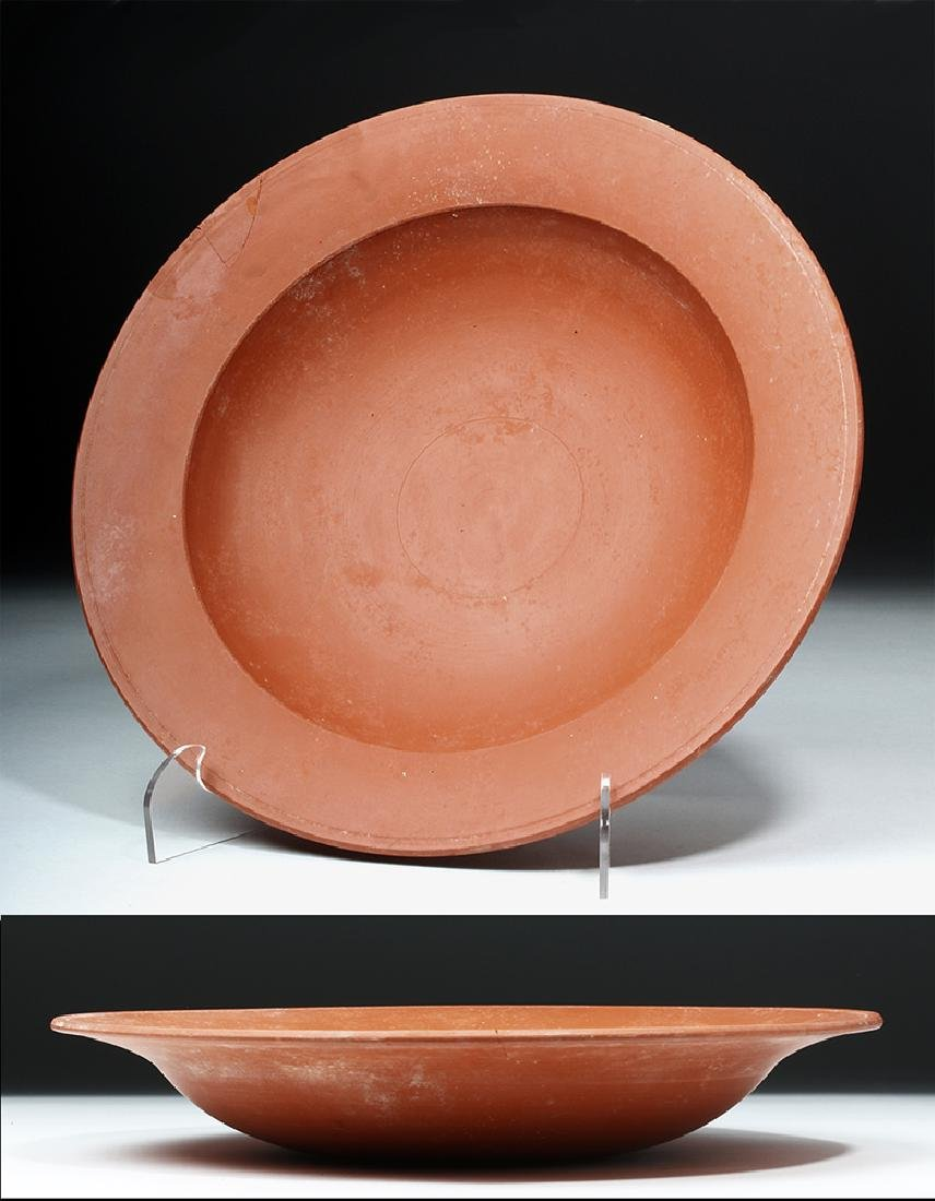 Large Roman Redware Shallow Bowl