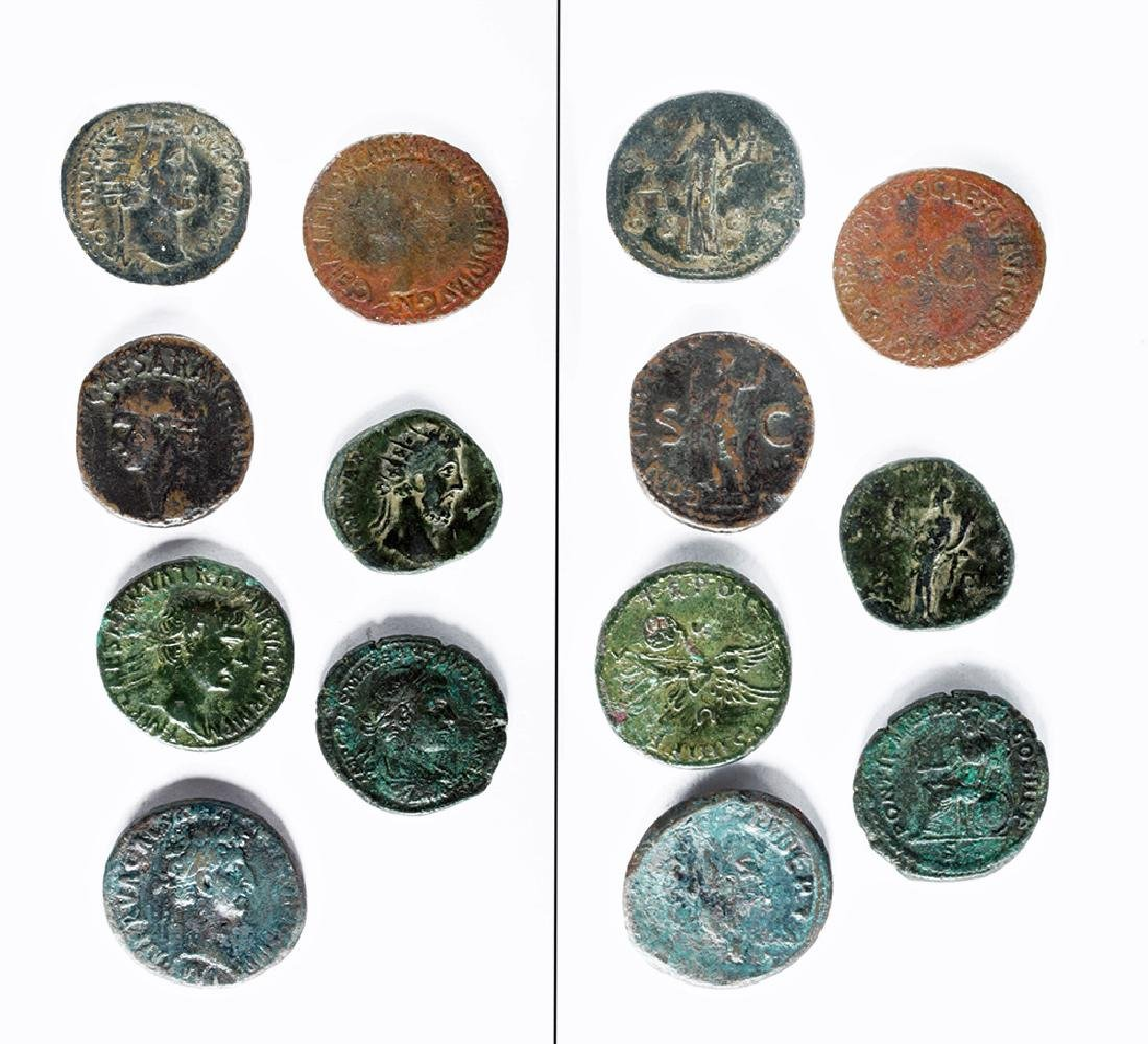 Lot of 7 Roman Bronze Coins