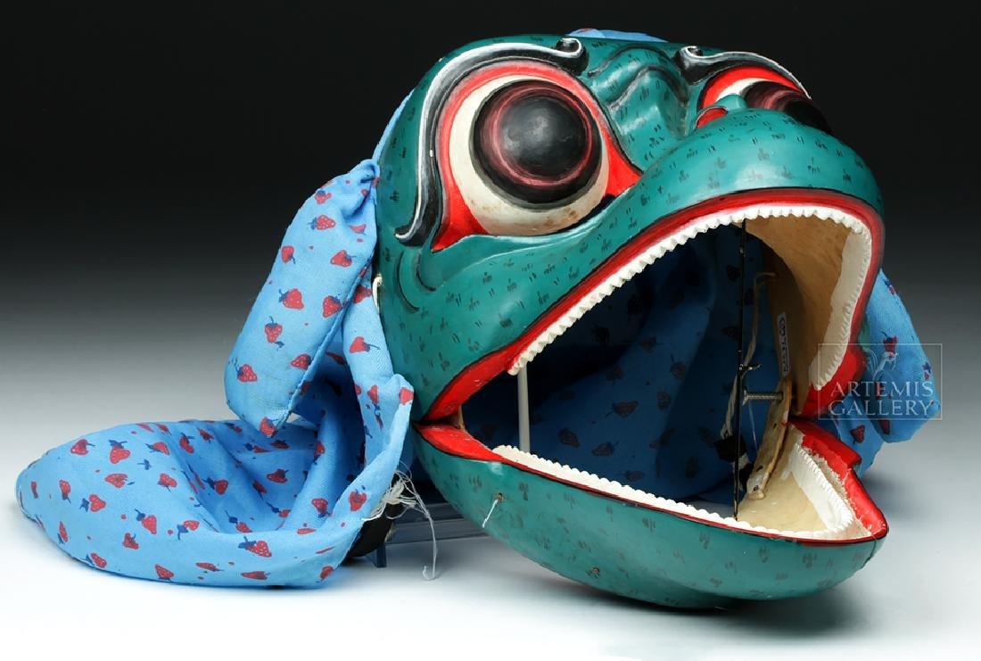 20th C. Balinese Island Wood Animal Dance Mask