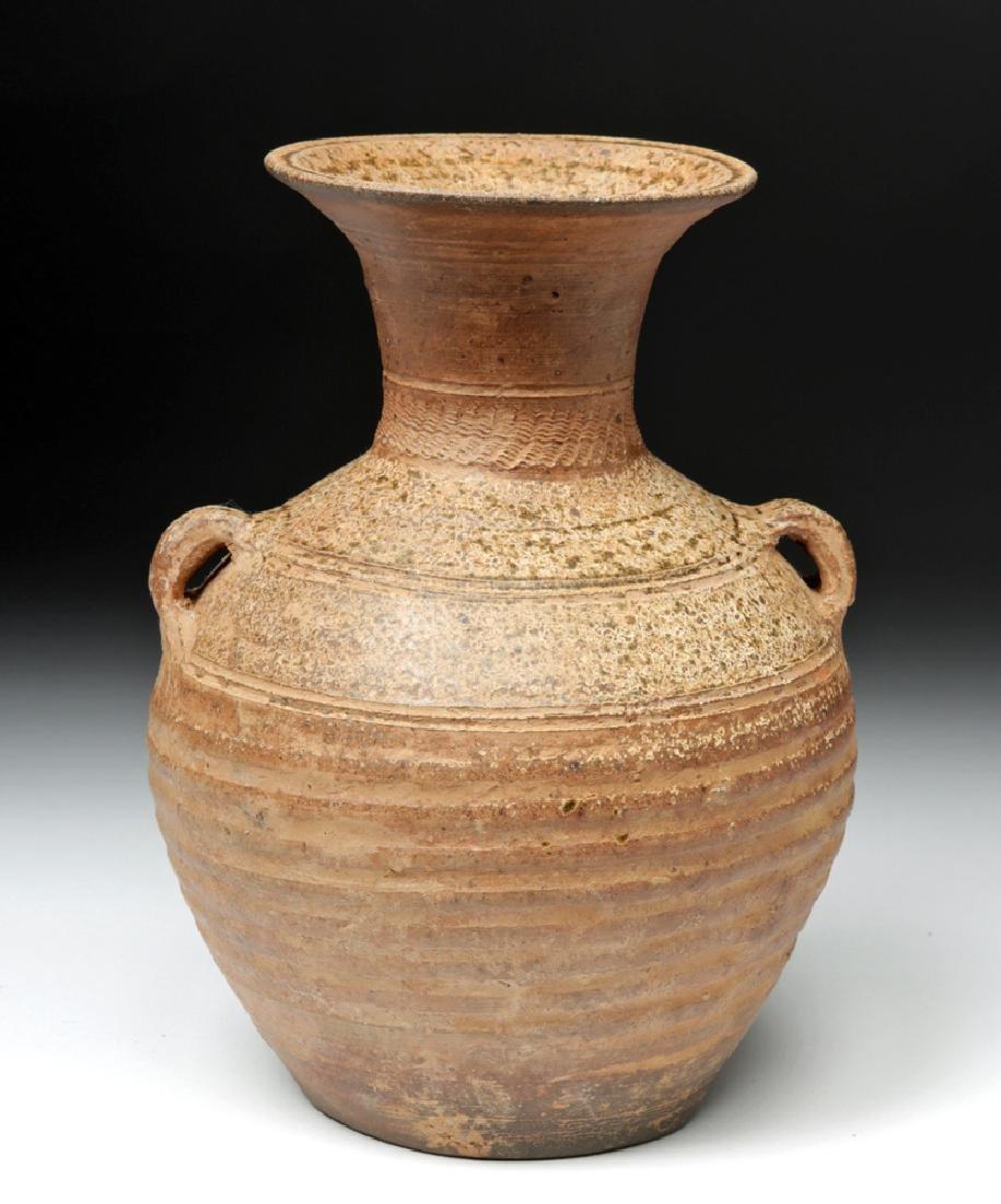 Ancient Chinese Han Dynasty Ash Glazed Hu w/ TL