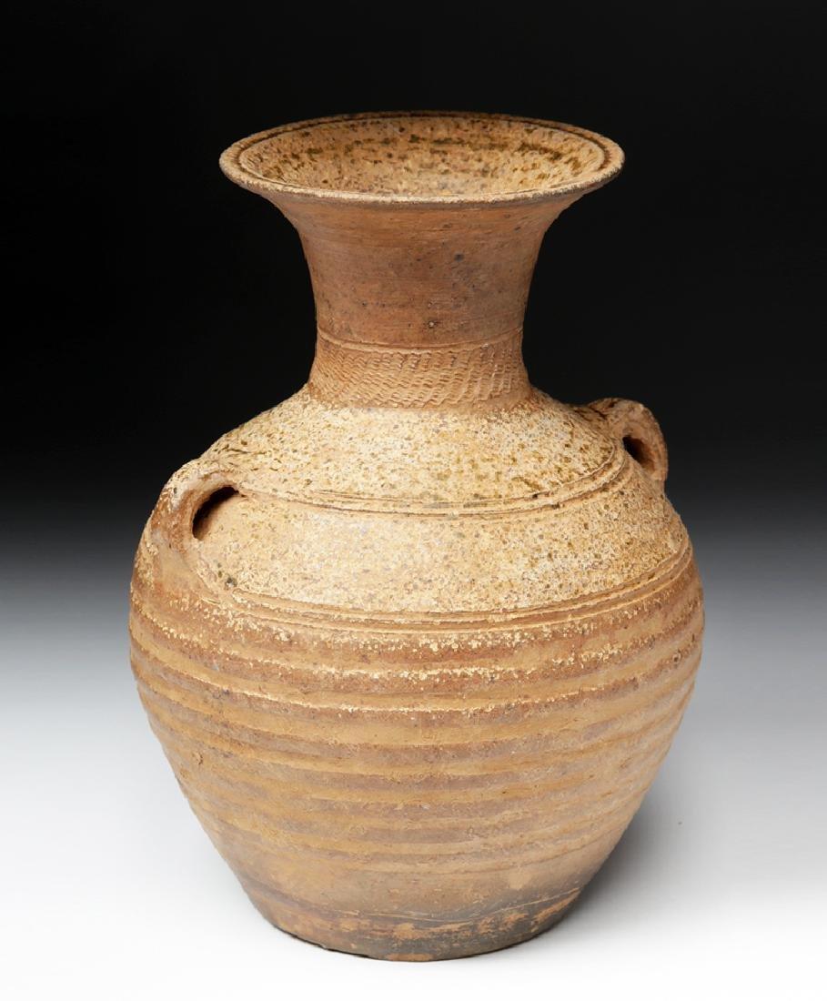 Ancient Chinese Han Dynasty Ash Glazed Hu w/ TL - 3