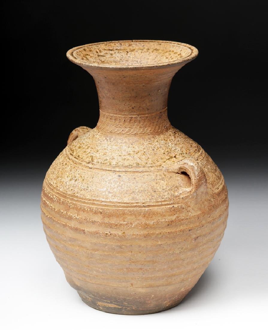 Ancient Chinese Han Dynasty Ash Glazed Hu w/ TL - 4