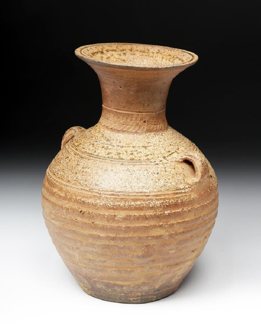 Ancient Chinese Han Dynasty Ash Glazed Hu w/ TL - 6