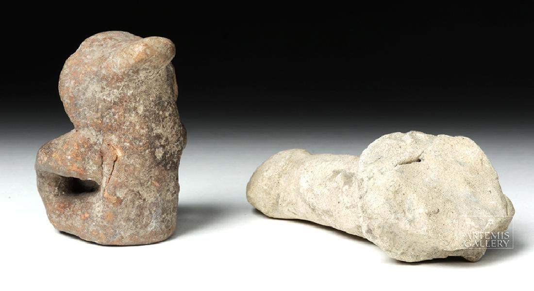 Tumaco Pottery Phallus & Jamacoaque Pottery Figure - 3
