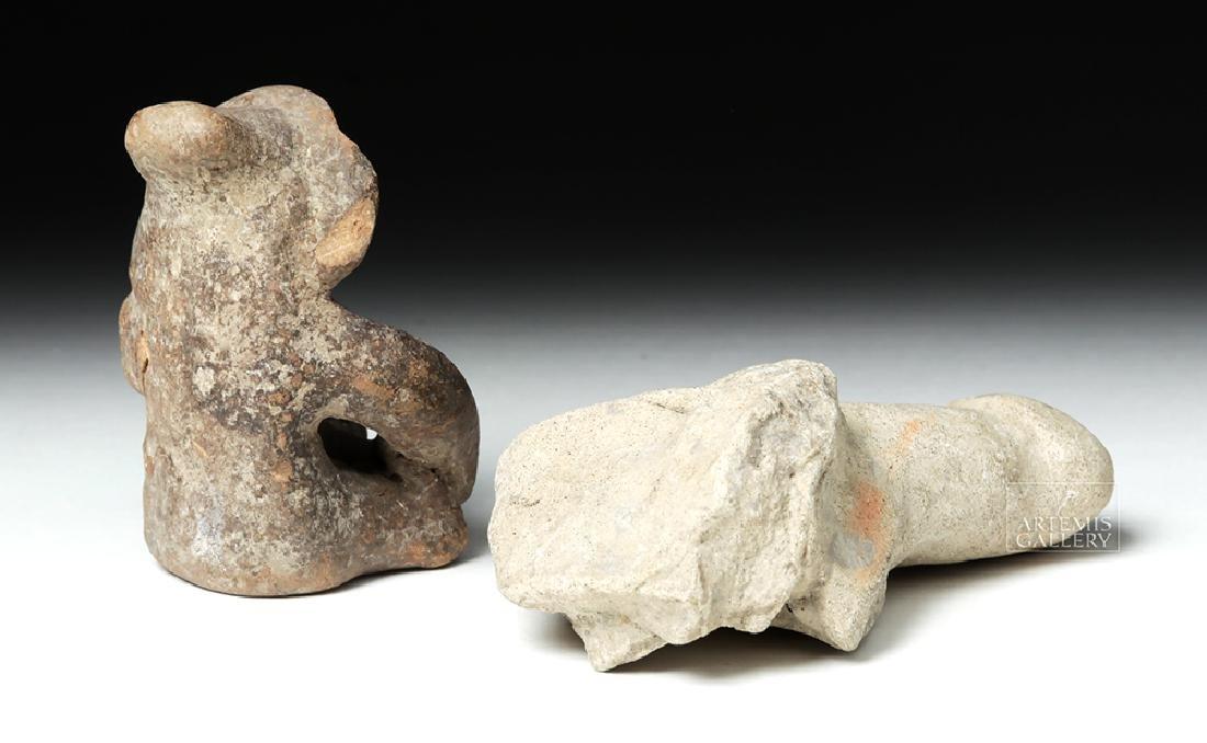 Tumaco Pottery Phallus & Jamacoaque Pottery Figure - 4