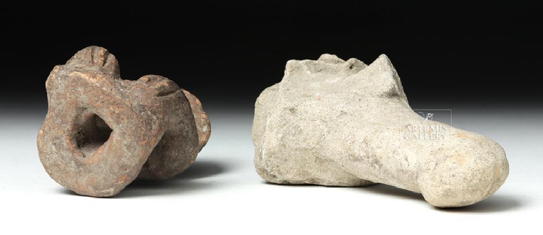 Tumaco Pottery Phallus & Jamacoaque Pottery Figure - 6