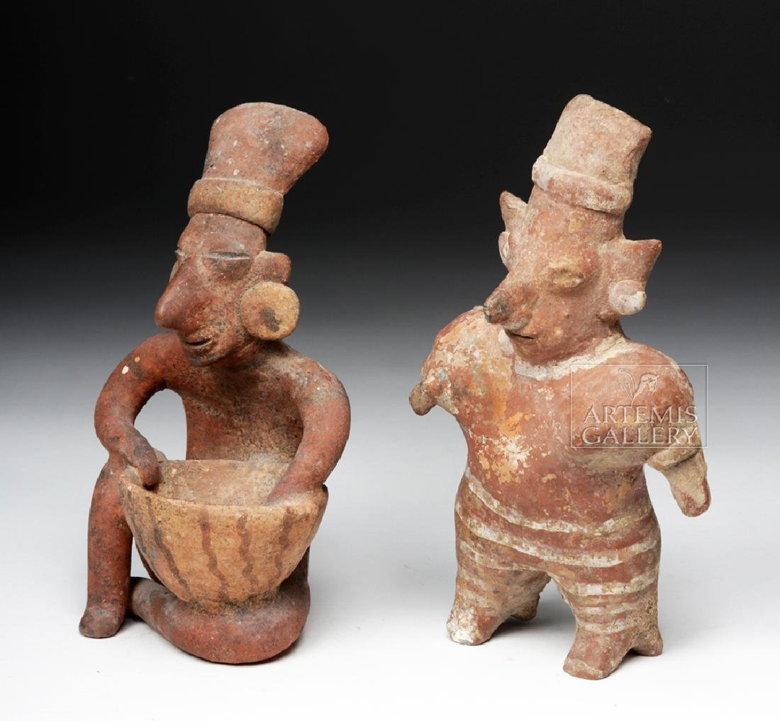 Pair of Jalisco Pottery Sheepface Figures