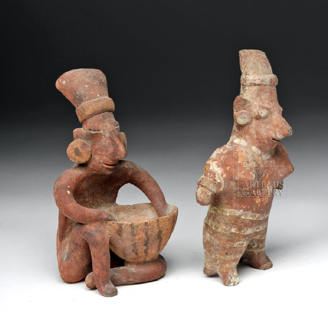 Pair of Jalisco Pottery Sheepface Figures - 3
