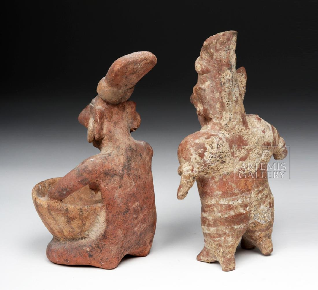 Pair of Jalisco Pottery Sheepface Figures - 4