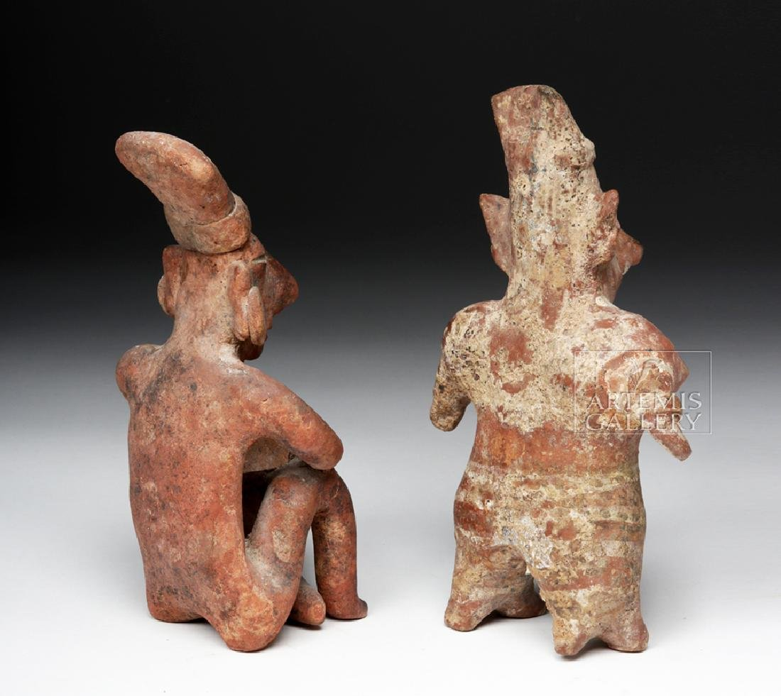 Pair of Jalisco Pottery Sheepface Figures - 5