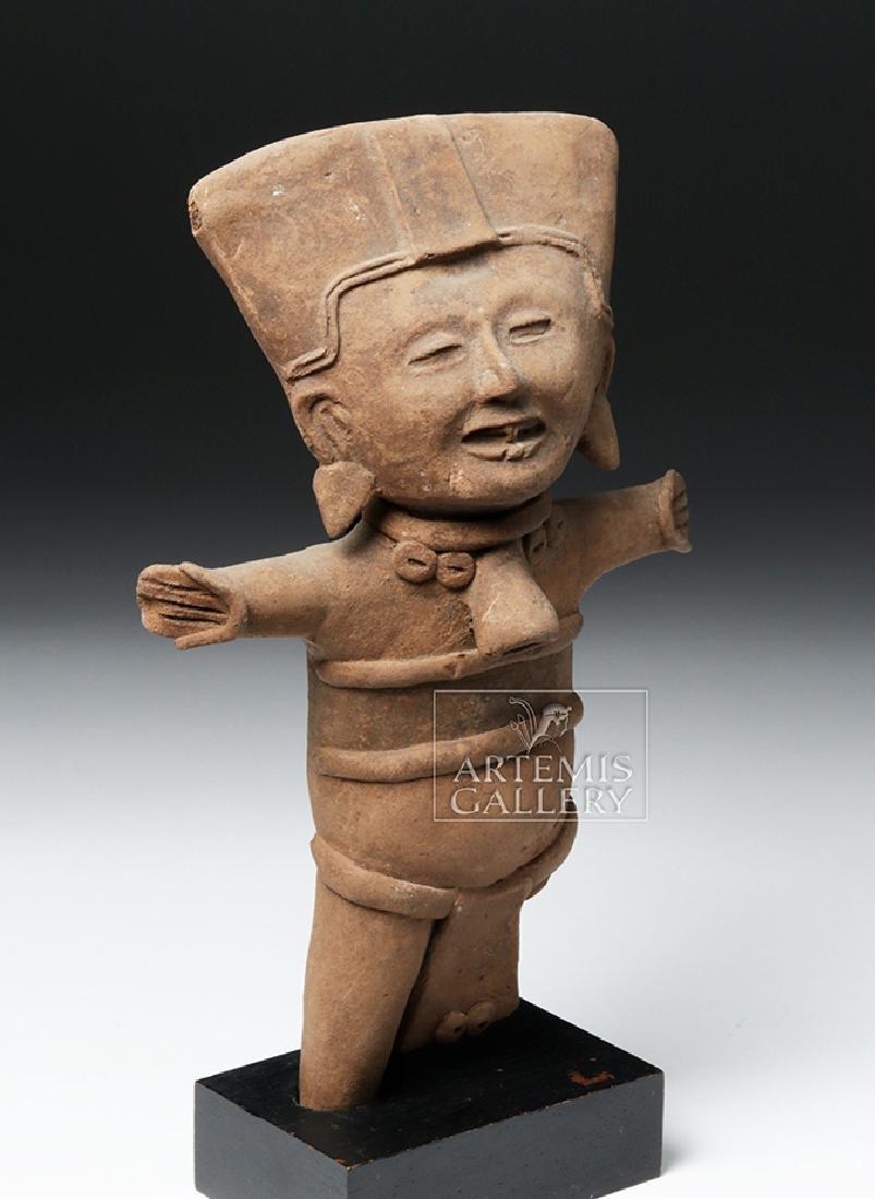 Classic Veracruz Pottery Standing Sonriente Ocarina - 5