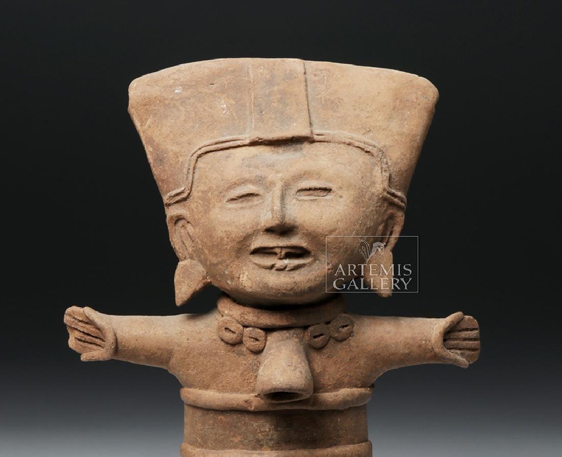Classic Veracruz Pottery Standing Sonriente Ocarina - 6