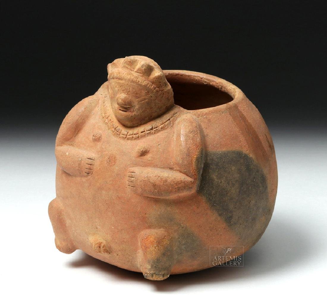 Mayan Pottery Squat Olla in Rotund Human Form
