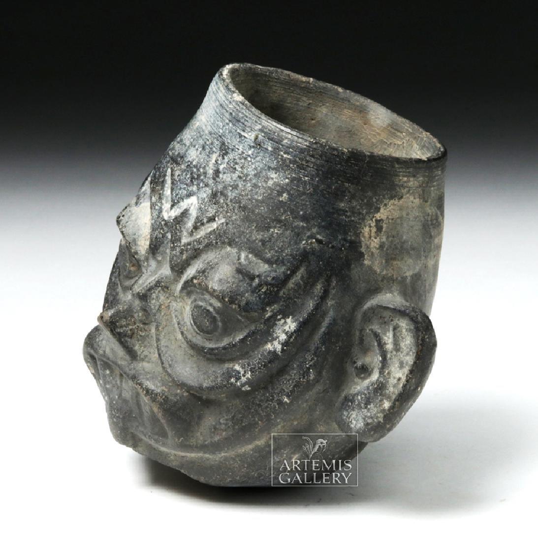 Moche Sican Pottery Blackware Cup - Ai Apec - 2