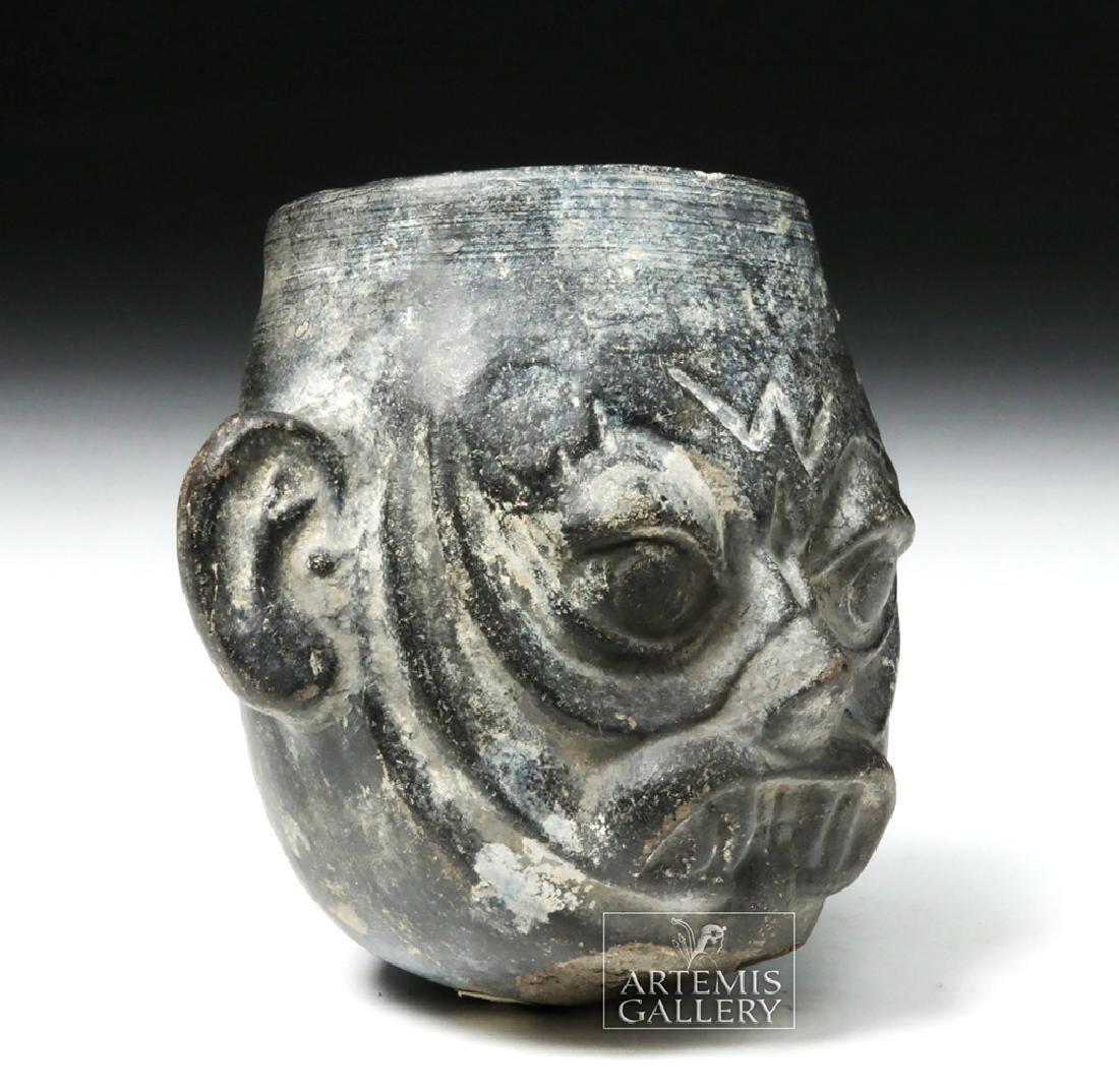 Moche Sican Pottery Blackware Cup - Ai Apec - 5
