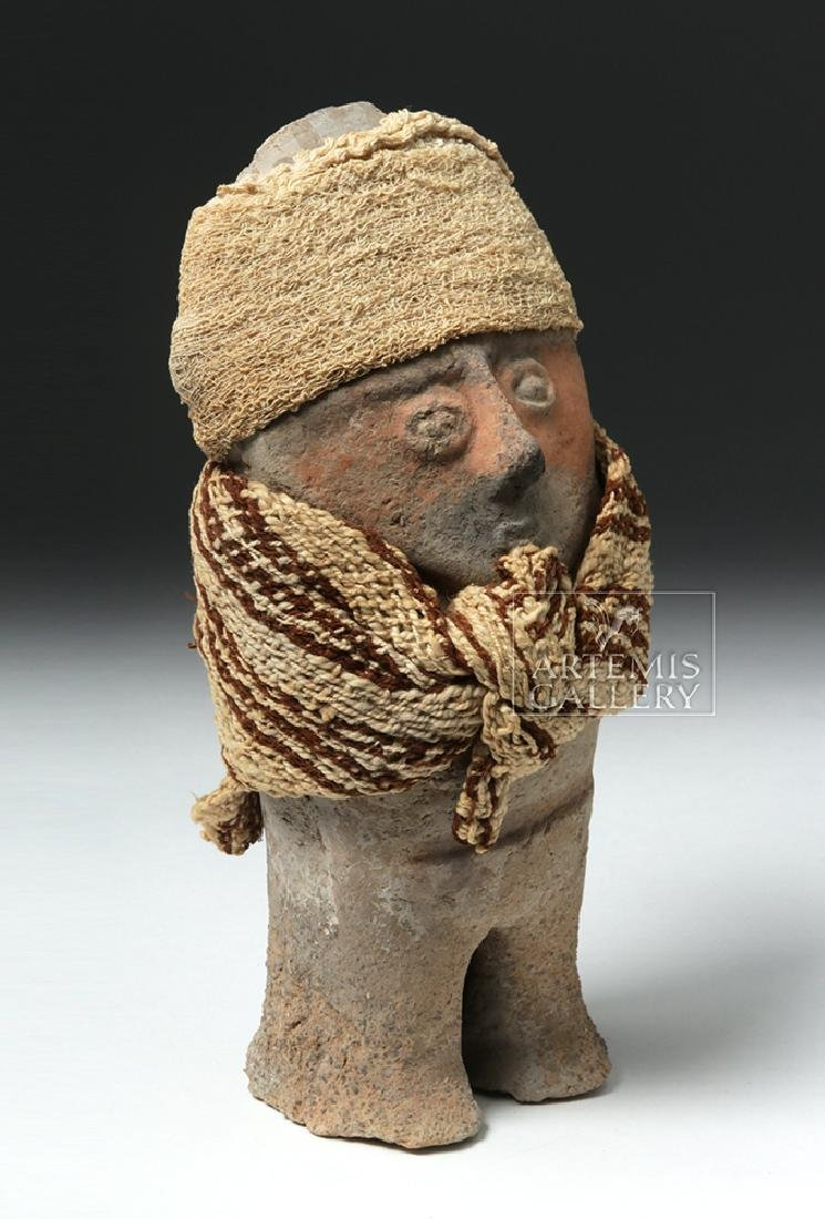 Chancay Terracotta Standing Female w/ Textile Sash - 4