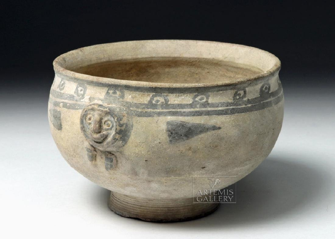 Chancay Bichrome Pottery Bowl w/ Avian Figures