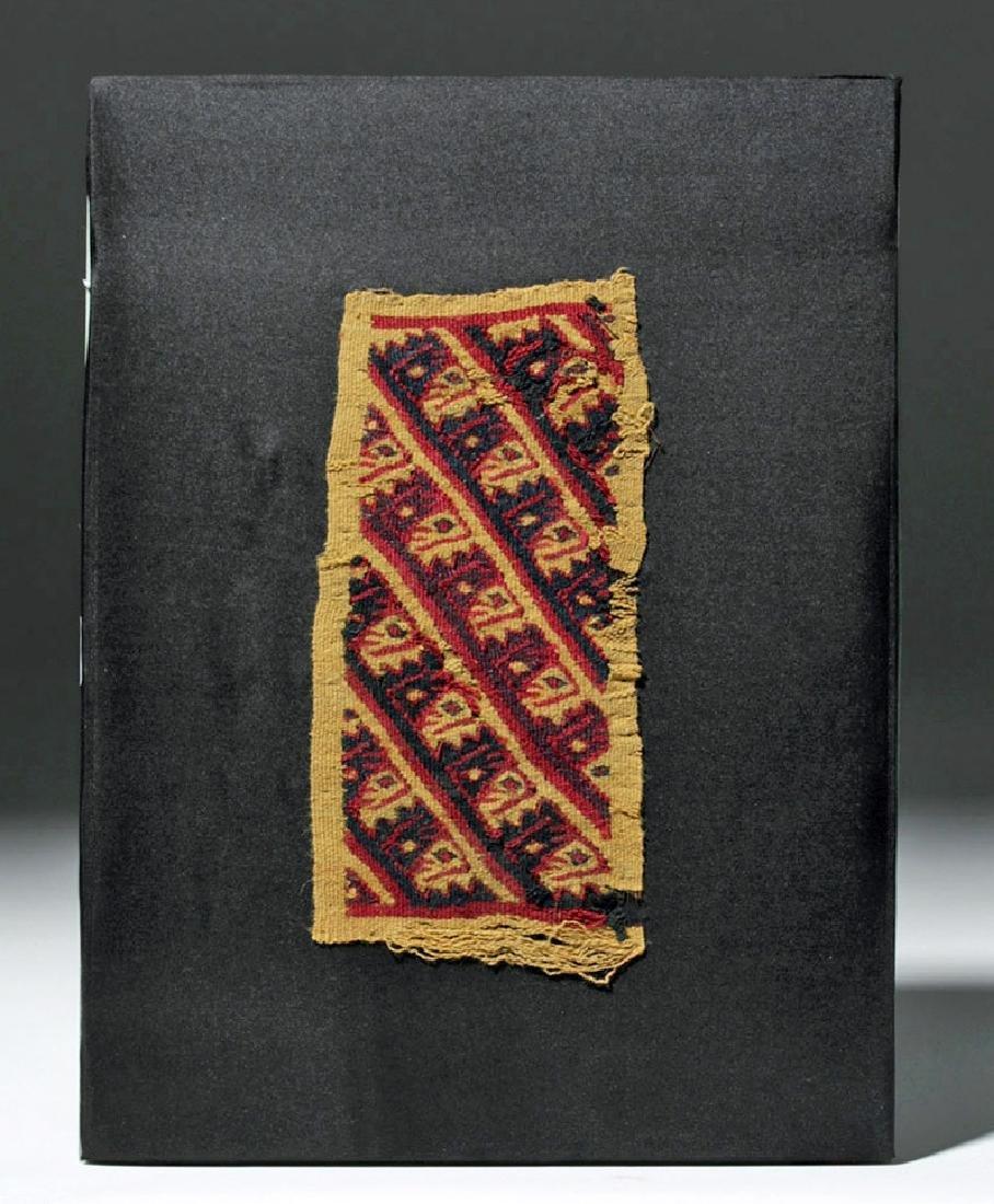 Chancay Textile Bag Panel - Abstract Birds