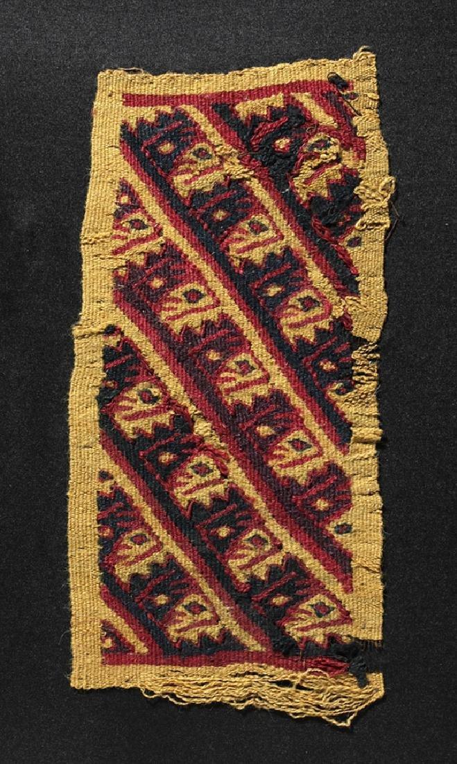 Chancay Textile Bag Panel - Abstract Birds - 2